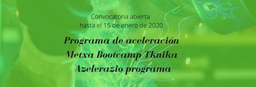 Convocatoria programa de aceleracion bootcamp tknika